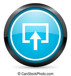 enter blue glossy circle icon on white background