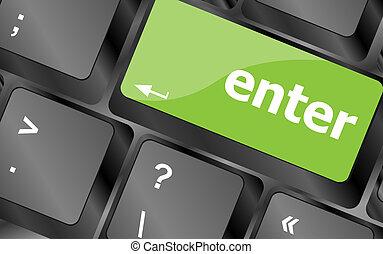 enter button on computer pc keyboard key