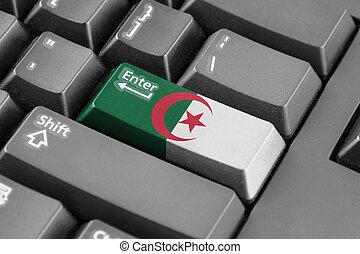 Enter button with Algeria Flag