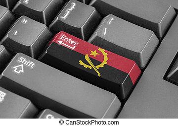 Enter button with Angola Flag