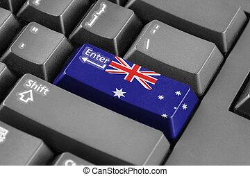 Enter button with Australia Flag
