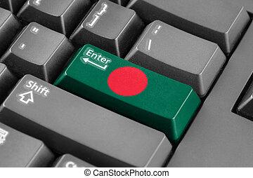 Enter button with Bangladesh Flag