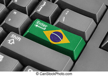 Enter button with Brazil Flag