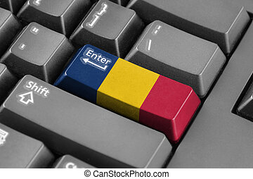 Enter button with Chad Flag