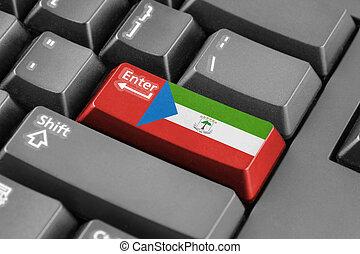 Enter button with Equatorial Guinea Flag