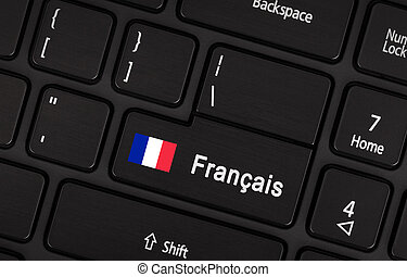 Enter button with flag France - Concept of language