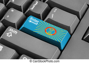 Enter button with Flag of Astana