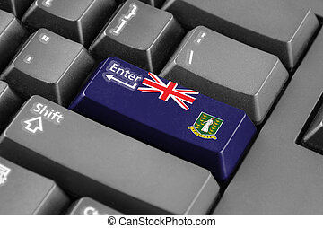 Enter button with Flag of British Virgin Islands
