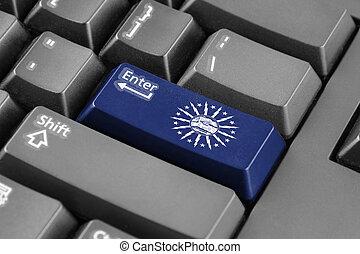 Enter button with Flag of Buffalo, New York