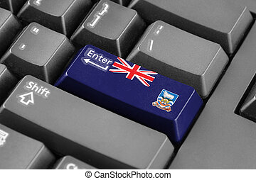 Enter button with Flag of Falkland Islands