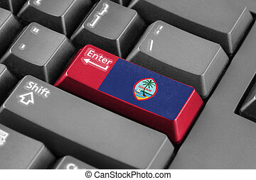 Enter button with Flag of Guam