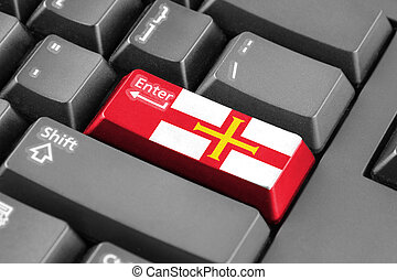 Enter button with Flag of Guernsey