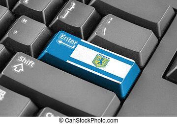 Enter button with Flag of Jerusalem