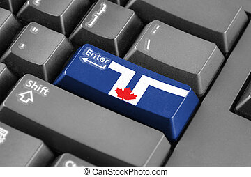 Enter button with Flag of Toronto