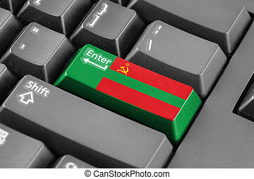 Enter button with Flag of Transnistria