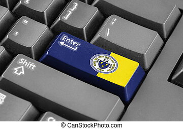 Enter button with Flag of Trenton, New Jersey