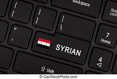 Enter button with flag Syria - Concept of language