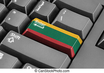Enter button with Lithuania Flag