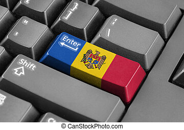 Enter button with Moldova Flag