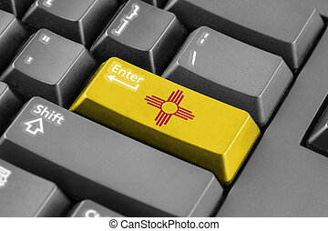 Enter button with New Mexico State Flag
