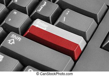 Enter button with Poland Flag