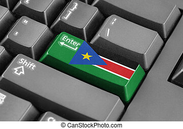 Enter button with South Sudan Flag