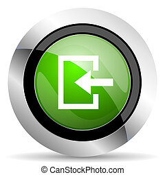 enter icon, green button