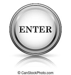 Enter icon. Internet button on white background.