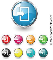 Enter icons, vector set
