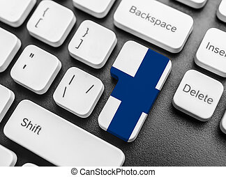 Enter key button with Flag of Finland.