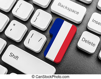 Enter key button with Flag of France.