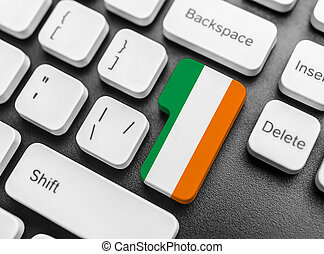 Enter key button with Flag of Ireland.