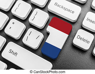 Enter key button with Flag of Netherlands.
