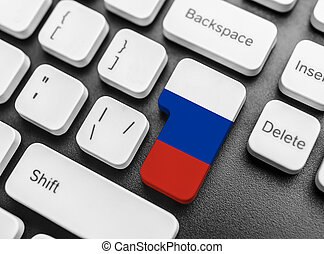 Enter key button with Flag of Russia.
