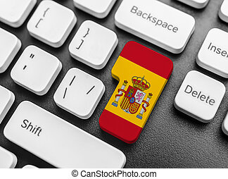 Enter key button with Flag of Spain.