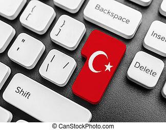 Enter key button with Flag of Turkey.