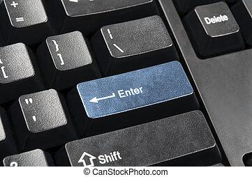 Enter key - Close up to enter key
