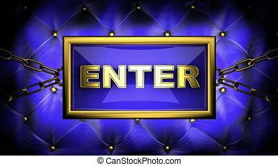 enter  on velvet background