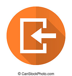 enter orange flat icon