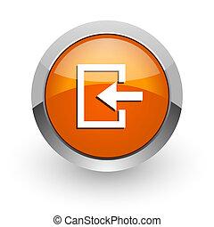 enter orange glossy web icon