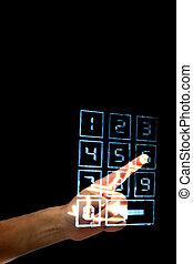enter secret code on numpad security control