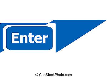 enter sign web icon button, business concept