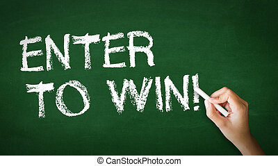 Enter to win Chalk Illustration - A person drawing and...