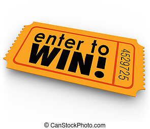 Enter to Win Raffle Ticket Winner Lottery Jackpot - Enter to...