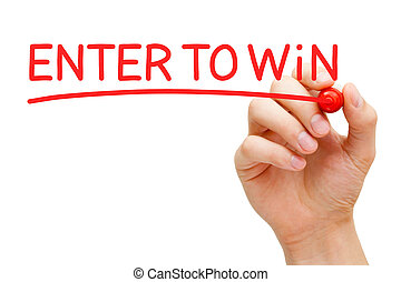 Enter to Win Red Marker