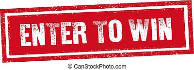 ENTER TO WIN red stamp seal text message on white background