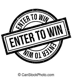 Enter To Win rubber stamp. Grunge design with dust scratches. Effects can be easily removed for a clean, crisp look. Color is easily changed.