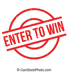 Enter To Win rubber stamp