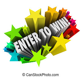 Enter To Win Stars Fireworks Contest Raffle Entry Jackpot - ...