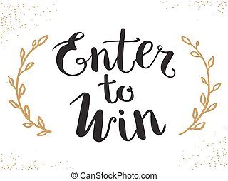 Enter to Win Vector Sign in EPS